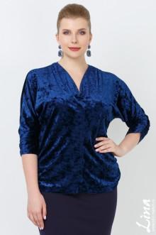 """Блуза """"Азалия"""" Лина (Синий темный)"""