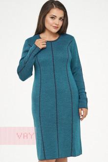Платье женское 182-2312 Фемина (Темный джинс/светлая лагуна)