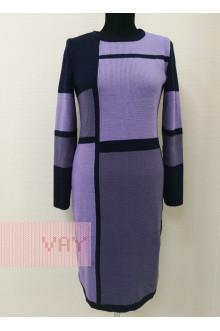 Платье женское 182-2338 Фемина (Темно-синий/черничный щербет/лаванда)
