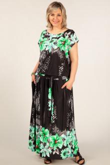 """Платье """"Анджелина"""" Милада (Цветы зеленые)"""