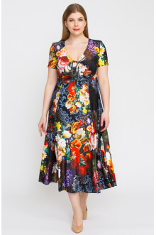 """Платье """"Лина"""" 5298 (Розы)"""