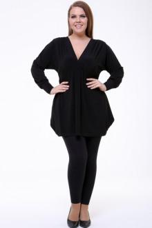 Блуза 0063-073 Грация Стиля (Чёрный)