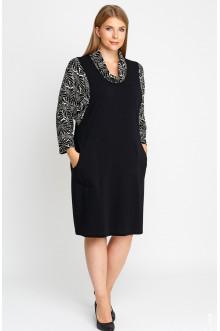"""Платье """"Лина"""" 52106 (Черный,белый 1)"""
