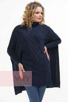 Накидка Фемина (пончо) женская 1506 Фемина (Темно-синий)