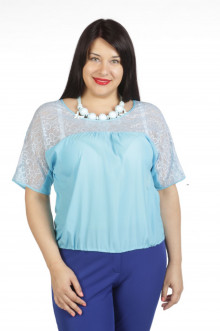 Блузка 439 Luxury Plus (Нежно-голубой)