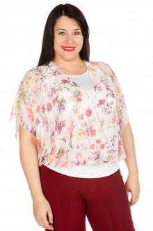 Блузка 436 Luxury Plus (Цветной принт)