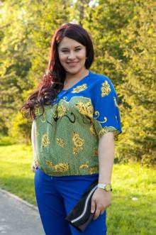 Блузка 506 Luxury Plus (Желтые розы)