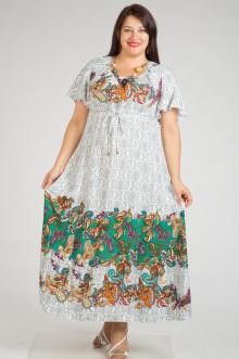 Платье 240 Luxury Plus (Цветочный купон зеленый)