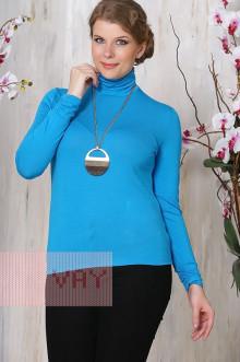 Блуза ВК-19 Фемина (Темно-голубой)