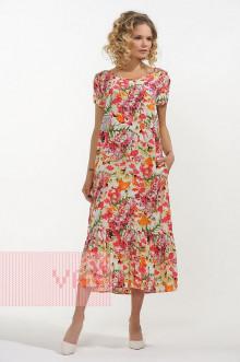 Платье женское 3409 Фемина (Маки)