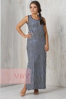 Платье женское 3289 Фемина (Полоска варенка темно-синий)