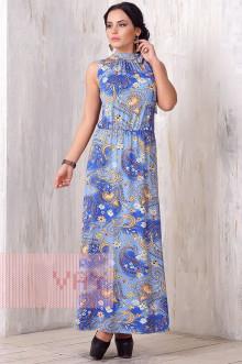 Платье женское 3181 Фемина (Огурцы голубой)