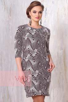 Платье женское 3136 Фемина (Шоколад-молоко уголки)