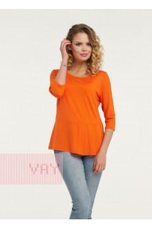 Блузка женская 181-3436 Фемина (Оранжевый)