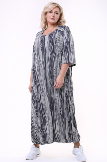 "Платье ""Балон №2"" 1742-074 Грация Стиля (Серый)"