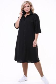 """Платье """"Рубашка"""" 1357-073 Грация Стиля (Чёрный)"""