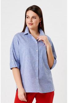 """Блуза """"Лина"""" 41102 (Синий полоска)"""