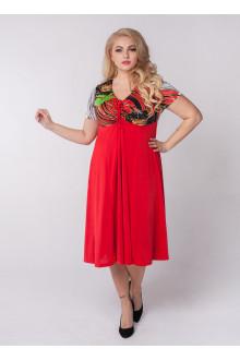 """Платье """"Шэр"""" Sparada (Красный / Красные цветы)"""