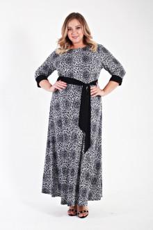 Платье 135608 ЛаТэ (Черно-белый)