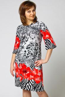 """Платье """"СКС"""" 6836 (Красный/зебра)"""