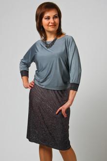 """Платье """"СКС"""" 4405 (Серый-фиолетовый блеск)"""