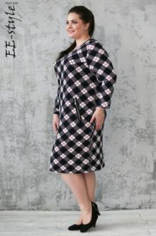 Платье ЕЁ-стиль (Черно-белый)
