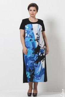 """Платье """"Контраст"""" Лина (Голубой)"""