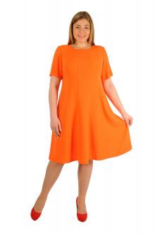 """Платье """"Апельсиновый Креп"""" Intikoma (Оранжевый)"""