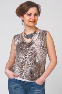 """Блуза """"СКС"""" 725 (Леопард бежевый)"""