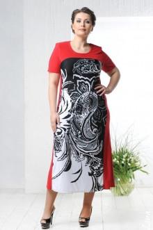 """Платье """"Контраст"""" Лина (Красный)"""