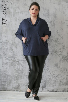 Блузка ЕЁ-стиль (Синий)