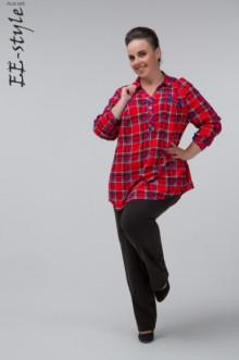 """Блуза """"Её-стиль"""" 1059 ЕЁ-стиль (Красная клетка)"""
