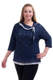 """Блуза """"Олси"""" 1310015 ОЛСИ (Синий)"""