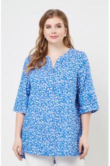 "Блуза ""Лина"" 4235 (Домики голубой)"