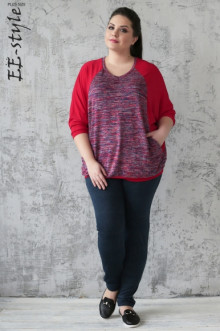 Пуловер ЕЁ-стиль (Красный)