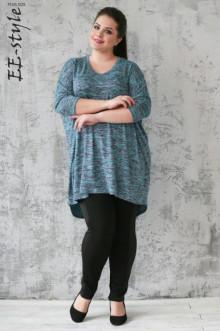 """Пуловер """"Её-стиль"""" 1113 ЕЁ-стиль (Бирюзовый меланж)"""