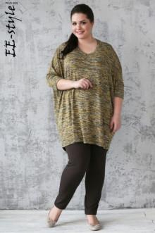 """Пуловер """"Её-стиль"""" 1113 ЕЁ-стиль (Желтый меланж)"""