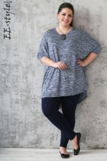 "Пуловер ""Её-стиль"" 1113 ЕЁ-стиль (Синий меланж)"