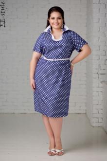 """Платье """"Её-стиль"""" 2007 ЕЁ-стиль (Горох)"""