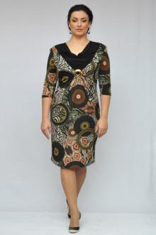 """Платье """"Олси"""" 1105053 ОЛСИ (Абстракция коричневый)"""