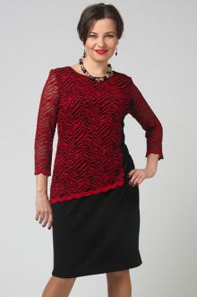 """Платье """"СКС"""" 3682 (Черный/красный)"""