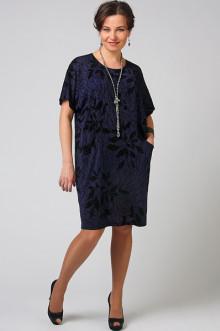 """Платье-туника """"СКС"""" 3652 (Темно-синий/Черный блеск)"""