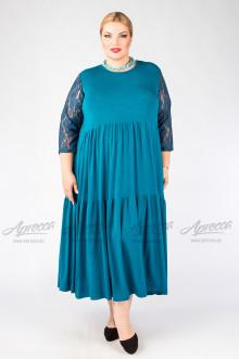 """Платье """"Артесса"""" PP00239GRN12 (Синий)"""