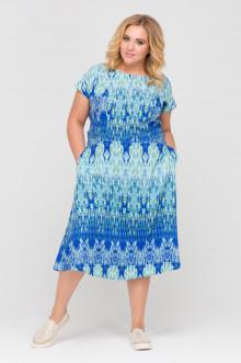 """Платье """"Голубая Мозаика"""" Intikoma (Голубой)"""