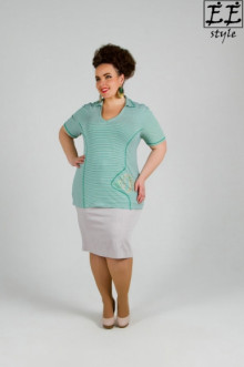 "Блуза ""Её-стиль"" 1040 ЕЁ-стиль (Зеленая рыбка)"