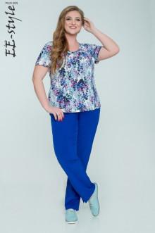 "Блуза ""Её-стиль"" 1129 ЕЁ-стиль (Разноцвет)"