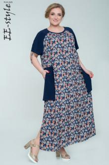 """Платье """"Её-стиль"""" 2030 ЕЁ-стиль (Синий)"""
