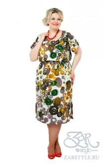 "Платье ""Блиф"" Zar Style (Коричневый)"