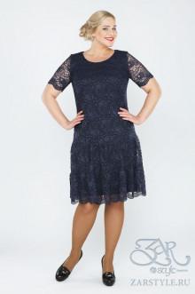 """Платье """"Лизетта"""" Zar Style (Синее)"""