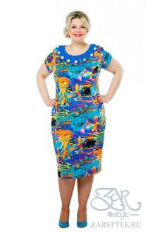 """Платье """"Жози"""" Zar Style (Синий)"""